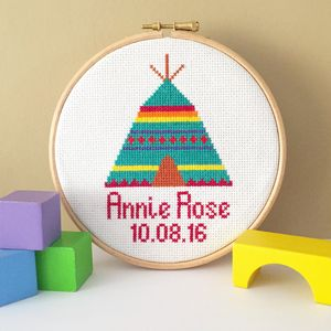 Teepee Cross Stitch Kit