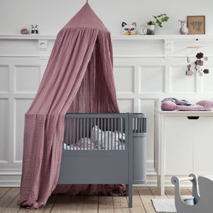 Dark Grey Baby And Junior Bed - nature's nursery
