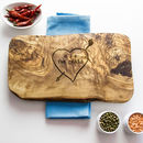 Personalised Carved Heart Cheese Board