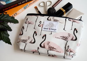 Flamingo Party Make Up Bag