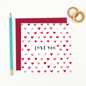 Love You Valentine's Hearts Card