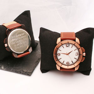 Personalised Wrist Watch Bronze Chunky Design - watches