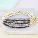 April Birthstone Diamond Stacking Bracelet