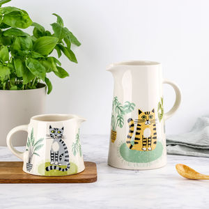 Handmade Ceramic Cat Tall Jug