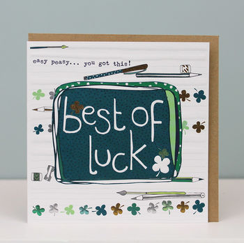 Good Luck With Your Exams Card