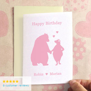 Birthday Bears In Love Birthday Card
