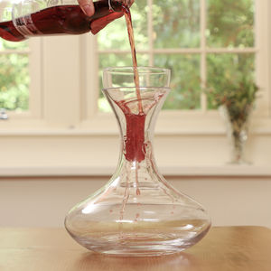 Cabernet Red Wine Carafe With Aerator - drink & barware