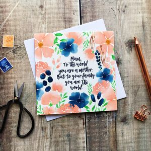 Inspirational Mum Card - sentimental cards