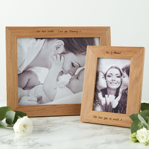 Contemporary Personalised Photo Frame For Mum