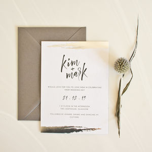 Double Foil Wedding Invitation - invitations