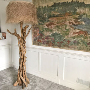 Branched Driftwood Floor Lamps