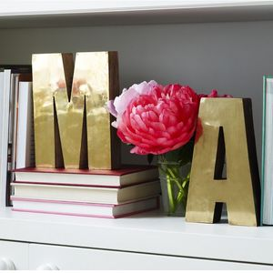 Brass Freestanding Letters - decoration