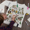 Personalised Jungle Colour In Top With Fabric Pens