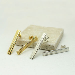 Statement Textured Stud Earrings