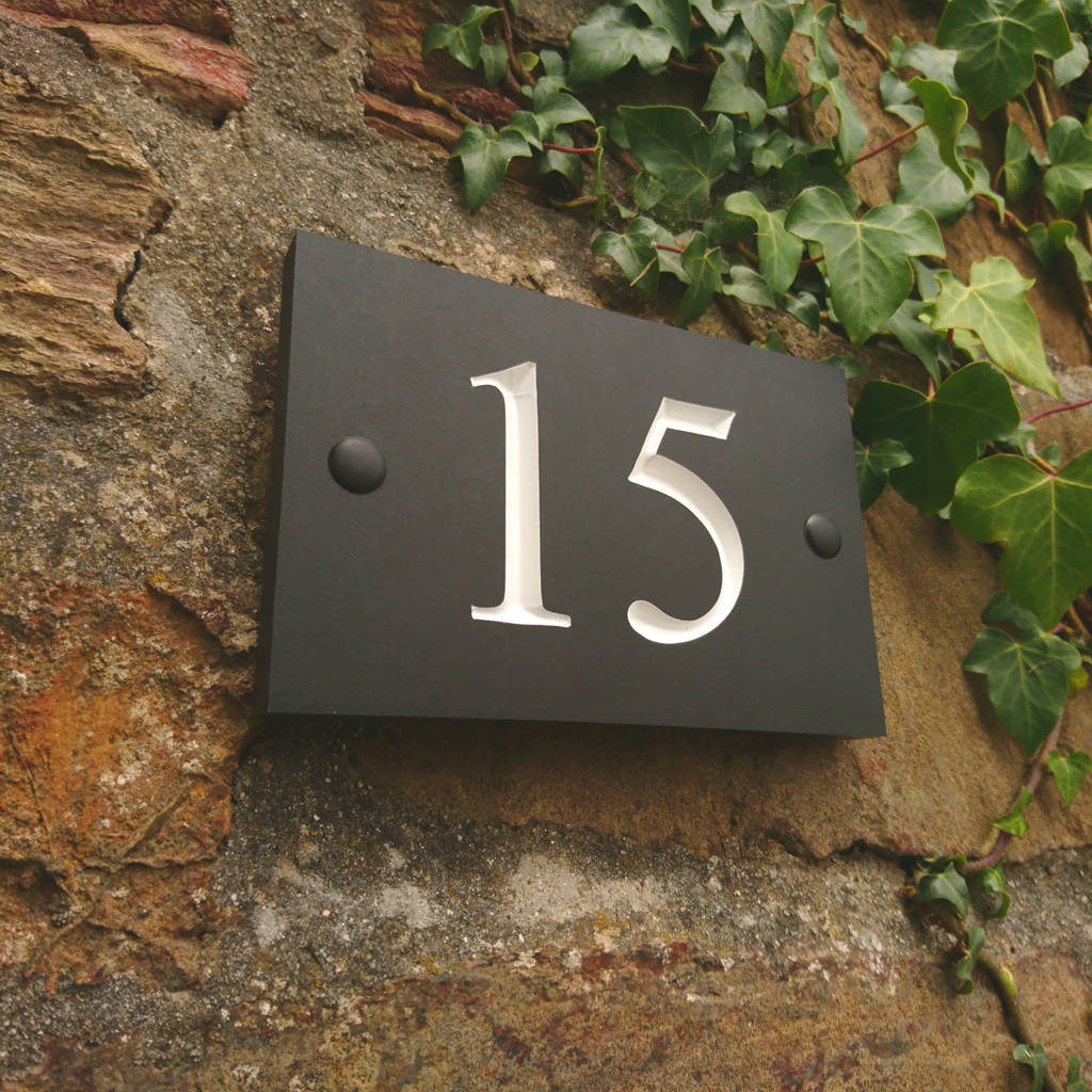 house numbers and doorbell