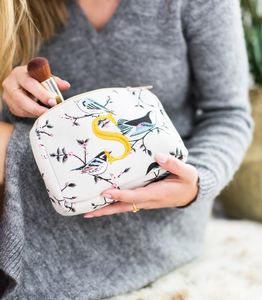 Personalised Bird Wash Bag - gifts for her