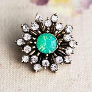 Anna Crystal Flower Brooch - pins & brooches
