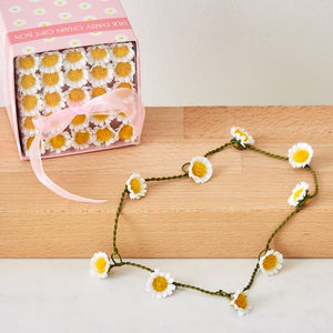 Silk Daisy Chain Gift Box - children's jewellery