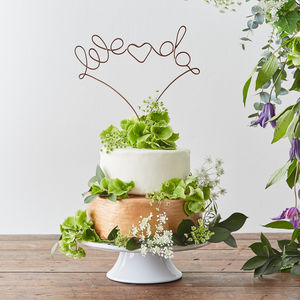 We Do Wire Cake Topper