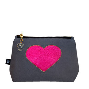 Embroidered Heart Make Up Bag - view all sale items