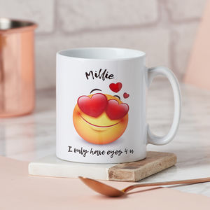 Emoji 'I Only Have Eyes Four U' Mug - mugs