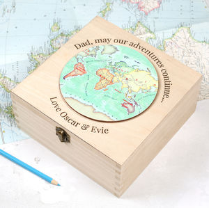 Personalised Keepsake Box Birthday Gift For Dad - keepsake boxes