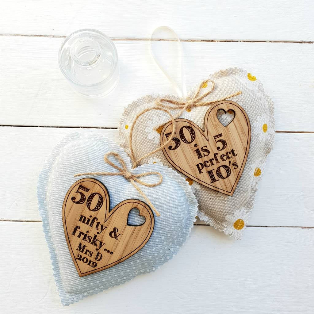 50th Birthday Gifts For Her Personalised Heart