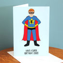 Superhero Personalised Birthday Card