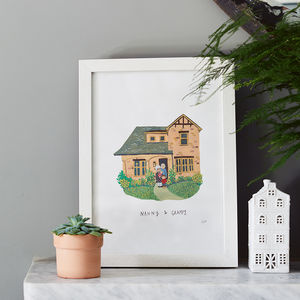 Personalised House And Family Portrait - gift guide edit