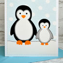 Large A5 Penguins Birthday Card