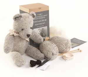 Limited Edition 'Bertie' The Vintage Bear Knitting Kit