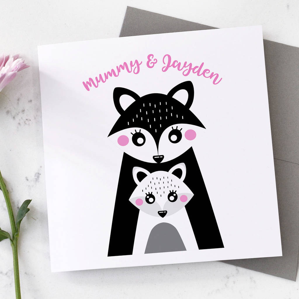 Personalised Fox Mother's Day Card