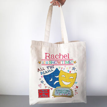 Personalised All The Drama Theatre Bag - Canvas bag
