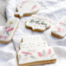 Personalised Birthday Pink Sugar Biscuits Set