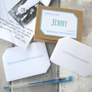 First Anniversary Keepsake Letters