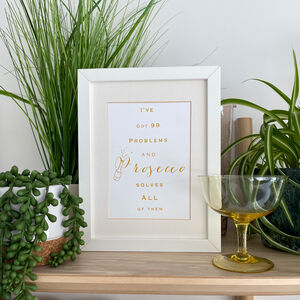 Prosecco Lovers Typography Print