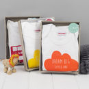 New Baby Boxed Gift Set With Baby Grow And Bib