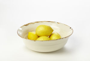 Ceramic Porcelain Bronze Lustre Rim Fruit Bowl