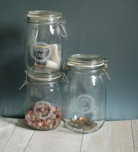 Bits And Bobs Personalised Glass Preserving Storage Jar - kitchen