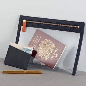 Mens Travel Wallet And Card Holder Gift Set