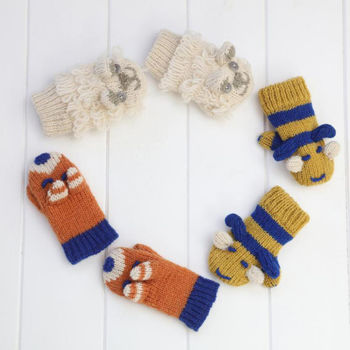 Unisex Winter Knitwear Mitten Three Piece Set