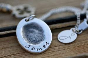 Fingerprint Oval Necklace - necklaces & pendants