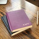 Personalised Coloured Leather Notebook