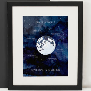 Personalised Universe Couple Print - nature & landscape