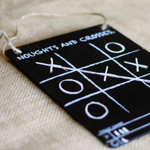 Traditional Noughts And Crosses Blackboard Game - wedding day activities