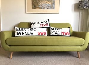 Iconic Street Name Cushion