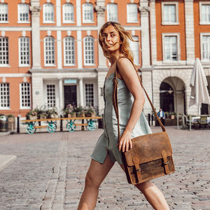 Leather Satchel Bag - cross-body bags
