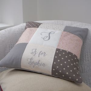 Personalised Sparkly Alphabet Cushion - embroidered & beaded cushions