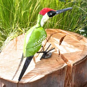 Woodpecker Garden Sculpture