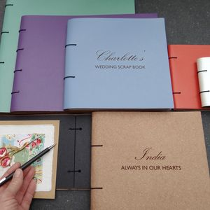 Refillable Leather Scrap Book - scrapbooks & sketchbooks